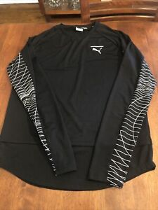 Puma EVO MENS Running T Shirt Long Sleeve  Size M. Thumb holes. MINT CONDITION