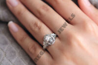 2 CT Estate Vintage Prong Setting Oval Diamond Engagement Wedding Ring All Size