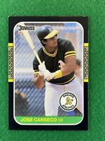 1987 Donruss Jose Canseco Baseball Card #97 - Oakland Athletics