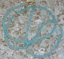 ✨wow ✨39 Ct.✨ Apatite Collier aus 14kt 585 Gold mit Apatit Edelstein Kette Chain