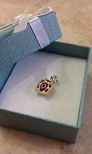 14k Yellow Gold Highly Polished Evil Eye Nazar Horseshoe Lucky Charm Pendant