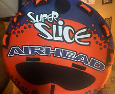 Airhead Super Slice | 1-3 Rider Towable Tube for Boating, Orange, Cover Only