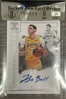 LONZO BALL 2017 Panini Impeccable Indelible Ink Rookie #15/99 Raw BGS 9 10 Auto