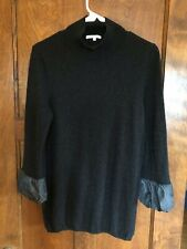 Vince L Women's !00% Cashmere Black Sweater 3/4 sleeves