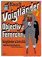 VOIGTLANDER CAMERA LENSES GERMANY VINTAGE VINTAGE ADVERTISING POSTER 1579PYLV