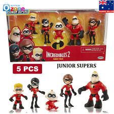 The Incredibles 2 Family Junior Supers Action Figures 5 Pcs 3in Toys