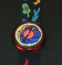 Pop Swatch Pop Color Story VINTAGE Watch 1990 New Battery