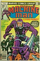 MACHINE MAN#1 VF 1978 JACK KIRBY MARVEL BRONZE AGE COMICS