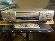 Samsung Sv-5000W World Wide Video Playback Vhs Vcr w/ Remote, powers on