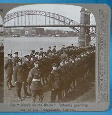 WW1 Stereoview Watch On The Rhine Infantry Guarding Bridgehead Realistic Travels