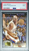 1995 Fleer Metal Jerry Stackhouse RC PSA 9 Mint Sixers Legend Great Looking Card
