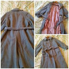 Vintage 1960s grey full coat. UK 16/18. Good Condition
