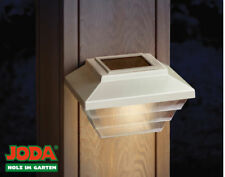 JODA 2er Set Topline Solarleuchte Akku Solarlampe Garten Hauslampe weiß