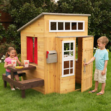 Kidkraft Modern Outdoor Playhouse | Kids Wooden Play House
