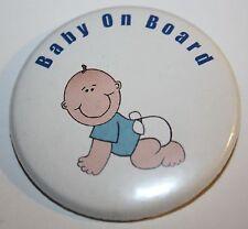 Baby On Board 50 mm pulsante Pin Badge Blue Boy mamma di essere incinta Bump