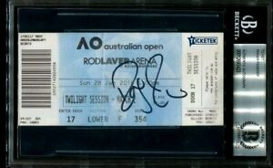 ROGER FEDERER signed autographed 2018 AUSTRALIAN OPEN FINAL TICKET BECKETT (BAS)