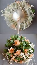 True Vintage 1980 Artificial Wedding Bridal Bouquet Bride/Bridesmaid~PEACH COLOR