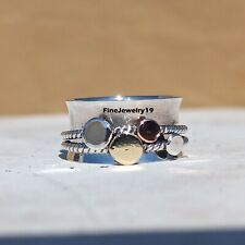 925 Sterling Silver Spinner Ring Meditation Ring Statement Ring Jewelry A434
