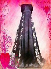 MONSOON **STUNNING JOSEPHINE ESTELLA SILK BLACK IVORY MAXI DRESS UK 16 VGC