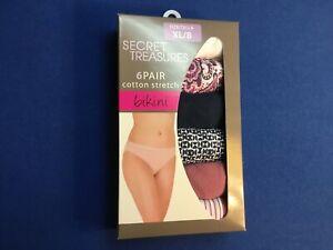 Women's underwear: Secret Treasures, available in bikini, brief, or hipster 6 pk