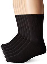 Hombres Hanes De X-temp Comodidad Fresca Vent Calcetines Negro 6-12 Paquete De 6