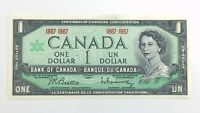 1967 Centennial 100 Year Canada 1 One Dollar Almost Uncirculated Banknote J120