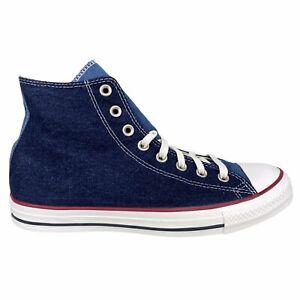 Converse Men's Chuck Taylor All-Star Hi Navy Blue Denim Sneaker CTAS 163965C