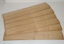 Placage CHENE 4/10 mm  50 x 9,5 cm lot 6 feuilles Bois Marqueterie Rénovation