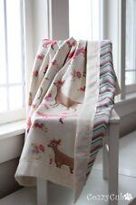 Baby Blanket, Sweet Forest Creatures,100%Flannel Cotton, Newborn Swaddle Blanket