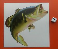 "BASS FISHING Auto Paraurti Finestra Tackle Box Sticker Decal 6"" kayak da pesca"