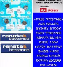 Renata 362 Sr721sw Silver Oxide Watch Battery X 10 Pcs Swiss Made Post