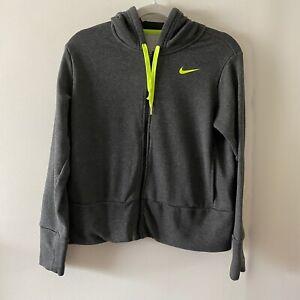 Nike Dri Fit Youth Gray Unisex hoodie Size M MEDIUM