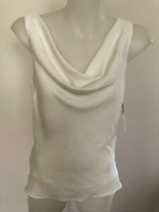 WOMENS WHITE COWL NECK CAMISOLE SIZES S, M, L