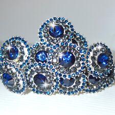 Forcine CRISTALLO MERAVIGLIOSE blu cerimonia di 2 cm N.1 forcina fermaglio D0621