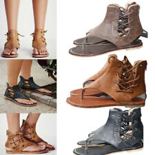 3 Style Gladiator Wild Sandals Women Summer Flats Faux Leather Flat Shoes Rome