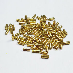 Uninsulated 4.7mm Lucas Type Brass Bullet Terminal Connector Terminals Crimp