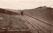 Electric Car ascending Snaefell I.O.M.  Manx Railway unused pc