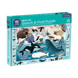 Mudpuppy 64 Pc Search & Find Puzzle – Arctic Life Kids Puzzle Age 4+ 02677