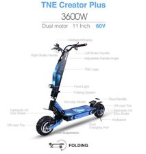 Tne Creator Plus 3600W 60V Lithium Powered Electric Scooter Dual Motors 40 Mph