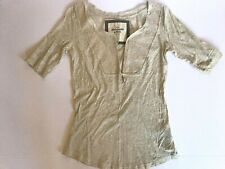 Abercrombie & Fitch Wmns Sz XS Heathered Gray Sequined V-Neck Half Sleeve Shirt