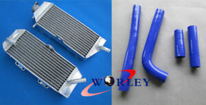 Aluminum Radiator + BLUE HOSE For Yamaha WR400 F WR400F 1998-2000 1998 1999 2000