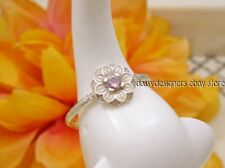 NEW Authentic Pandora Silver DHALIA Pink Enamel Ring 60 9 RETIRED