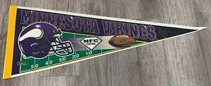 Vintage, MINNESOTA VIKINGS, NFL FOOTBALL, Souvenir Felt Pennant