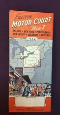 *1964 Eastern Motor Court Road Map NEW YORK PENNSYVANIA DELAWARE NJ MARYLAND