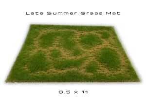 Late Summer Static Grass Mat Model Scenery Landscape Ground Cover Tufts Diorama