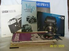 Camera manual books & instruction guides from many camera companies