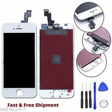 White iPhone SE LCD Digitizer Display Replacement Touch Screen Glass + Tools