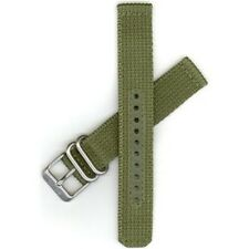 New Genuine Nylon Watch Band Fits Seiko Watch Strap Green Heavy Buckle 18MM