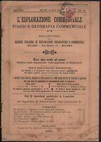 L'esplorazione Commerciale-Viaggi E Geografia Commerciale Milano 1906