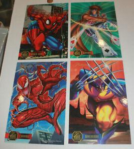 Fleer Flair 1995 Jumbo Cards Print Set of 8 Carnage Spider-man Thing Wolverine
